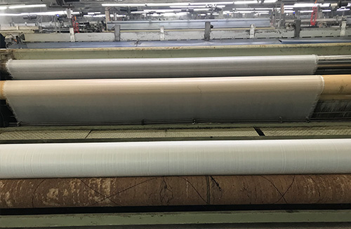 PE braided fabric for thermal insulation quilt of transparent